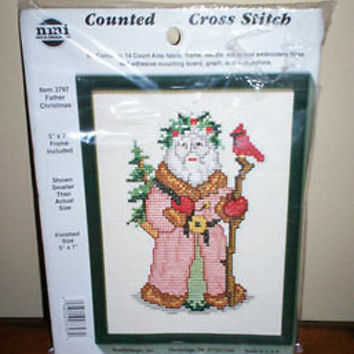 NeedleMagic NMI Counted Cross Stitch Kit Father Christmas Santa Claus #3797 L@@K
