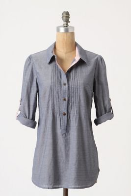 Swingy Chambray Tunic - Anthropologie.com