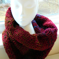 COWL SNOOD SCARF all in one for women and by knitella2011 on Etsy