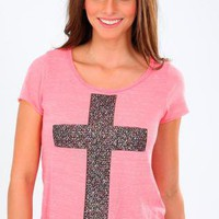SHREDDED CROSS TEE