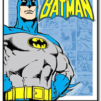 Batman Retro Comic Panels Tin Sign: Home & Business Decor with Superhero Metal Signs RetroPlanet.com