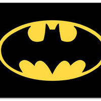 Batman Logo Tin Sign: Home & Business Decor with Superhero Metal Signs RetroPlanet.com