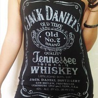 Jack Daniel&#x27;s Tennessee Whiskey Black Singlet Vest M from Grow2013