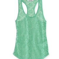 Floral Lace Racerback Tank -