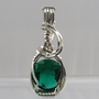 Sterling Wire Wrapped Emerald Stone