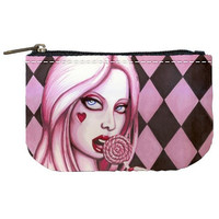 Pink Lolita makeup bag/coin purse by ShayneoftheDead on Etsy