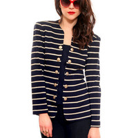 Nautical Navy & Gold Top