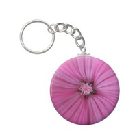 Pink Morning Glory ~ Macro Photography Keychains from Zazzle.com