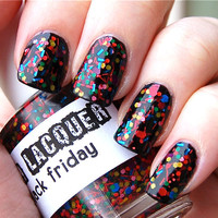 Black Friday :  Custom-Blended Glitter Nail Polish / Lacquer