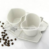 Heart-shaped Lovers Household Coffee Ceramic Mugs -  DinoDirect.com