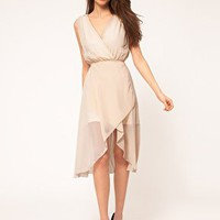 TFNC | TFNC Midi Dress With Chiffon Wrap Front at ASOS
