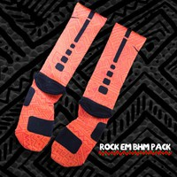 Black History Month Nike Elite Socks - Orange | Rock &#x27;Em Apparel