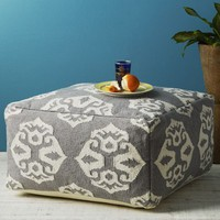 Andalusia Dhurrie Pouf | west elm