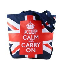Union Jack Keep Calm and Carry On Tote Bag
