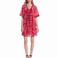 Amazon.com: Plenty by Tracy Reese Women's Bandana Leaf Placement Peasant Dress: Clothing