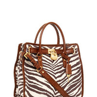 MICHAEL Michael Kors Hamilton Large Whipped North South Tote, Tiger-Print - Michael Kors