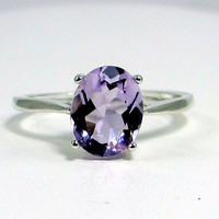 Lavender Amethyst Ring Sterling Silver by DreamyRings on Etsy