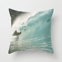 The Wave  Throw Pillow by Bree Madden