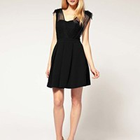 Whistles | Whistles Melissa Dress with Net Overlay at ASOS