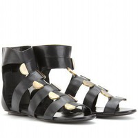 mytheresa.com - Balenciaga - STRAPPY LEATHER SANDALS - Luxury Fashion for Women / Designer clothing, shoes, bags