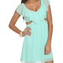 Ruffle Front Cutout Dress | Shop Dresses at Wet Seal