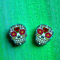 Dia de los Muertos Floral Sugar Skull Post by theringleader