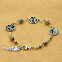 Handmade Bracelet: Snow Flake and Wing