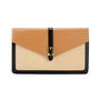 Simple Envelope Shape Leather Clutch Bag