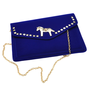 Gold Pony Studed Clutch with Chain Strap from Hallomall