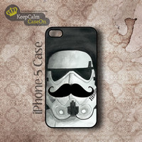 iPhone 5 Case, Storn Trooper Mustache iPhone Case Hard Fitted iPhone 5 Case, iPhone 5 Hard Case