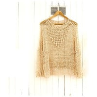 Bobble Sweater in Ivory by munamiu on Etsy