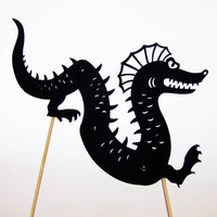 Seamonster Shadow Puppet by owlyshadowpuppets on Etsy