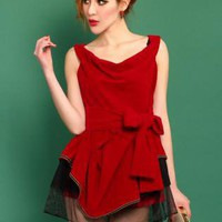Wine Red Sexy Slim Dress S010529