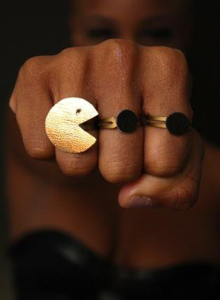 Gold Ring - Pacman ring set | UsTrendy