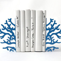 Bookends -Corals Blue edition- unique, stylish and useful decor bookends