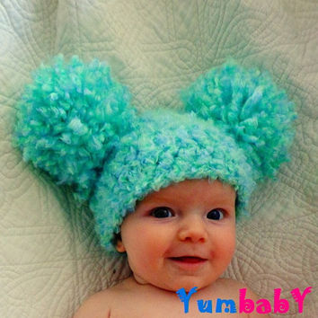 Easter Hats Pom Pom Hat Baby Girl Hat Crochet Baby Girl Hats Newborn Photography Props Hats Photo prop Baby Girl Hats