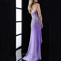 Charming strapless beading chiffon evening dress from Your Closet