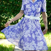 Vintage Lavender Shirt Dress S/M