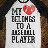 My Heart Belongs To A Baseball Player (Red Heart) - Sports Girl