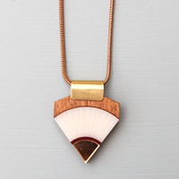 Sun Point Necklace in White and Burgundy by Wolf and Moon