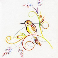 Art Print Humming bird by oladesign by oladesign on Etsy