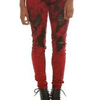 LOVEsick Red Cruella Super Skinny Jeans - 779572