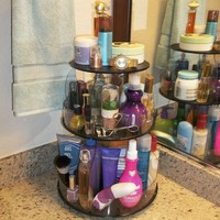 "Makeup & Cosmetic Organizer That Spins for Easy Access to all your Beauty Essentials, NO More Clutter!Save Space, Only 12"" needed on Your Co"