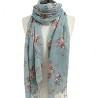 NI042 Yumi Vintage Printed Scarf