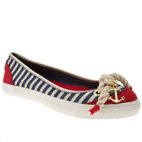 Women&#x27;s White &amp; Navy Rocket Dog Rdog Tulip Island Stripes at Schuh