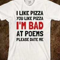 Bad at Poetry - Text Tees