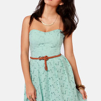 BB Dakota by Jack Patton Pale Blue Eyelet Lace Dress