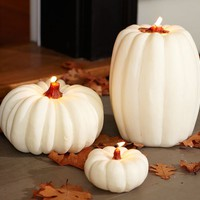 White Pumpkin Candles