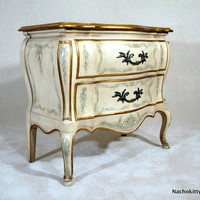 Dresser Side Table Handpainted Circa 1930s Chest