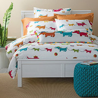 Summer Dogs Percale Comforter Cover/Duvet Cover and Sham